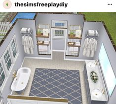 Sims 2 House, Sims 4 House Plans, Sims 4 House Building, Sims 4 House Design, Casas The Sims Freeplay, Sims Freeplay Houses, Sims Free Play, Piscina Interior, The Sims 4 Pc