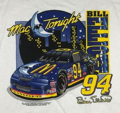 Vintage Mac Tonight Shirt NASCAR McDonald's Bill Elliott 90s Racing V1