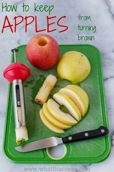How to keep apples from turning brown www.whatlisacooks.com