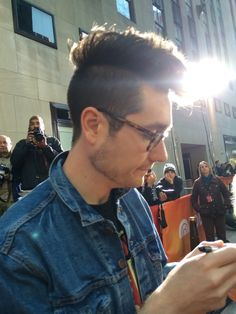 """things-we-lost-in-the-fiya: """"I'm don't know what to post sooooo…… Here's a pic of Dan I took when I met him at the today show! """""""