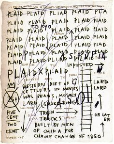 Jean-Michel Basquiat. Untitled (Plaid), 1982.