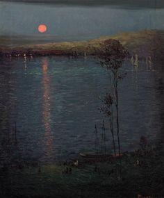 Leon Dabo, Moon on the Lake 1907