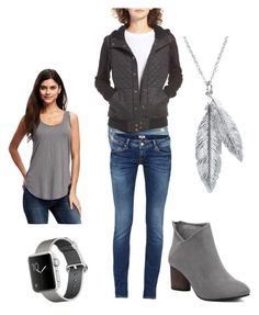 """Fall Moto sweatshirt"" by kayvanwyk on Polyvore featuring RVCA, Old Navy and Nina B"