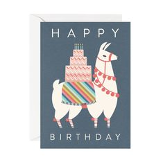 birthday llama card