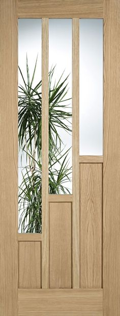 Oak Unfinished Coventry Tiered Panel  Clear Glass