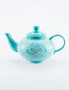 Tällainen Indiskan teekannu, oih! RETRO tekanna turkos | Carafes/pitchers | Ceramic/glass | Glas & Porslin | Inredning | INDISKA Shop Online