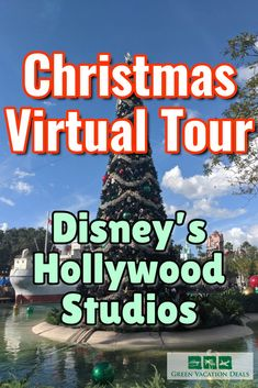 Enjoy Christmas at Disney World's Hollywood Studios with this virtual tour! This popular theme park in Orlando Florida is decorated beautifully at Christmas time. See for yourself in this video! Includes decorations and celebrations from all over the park, including projections of Woody Disney World Christmas, Christmas Events, Christmas Travel, Holiday Travel, Christmas Holiday, Christmas Lights, Disney World Planning, Disney World Trip, Disney Worlds