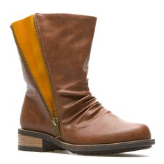 {the Brave boot} zip it closed or unzip it for a bolt of colour!