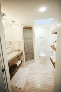 Looking for an inspiring Joanna Gaines Bathroom Renovations that you can try easily and cheaply? Small Basement Bathroom, Farmhouse Bathroom Sink, Small Bathroom Renovations, Bathroom Plans, Concrete Bathroom, Bathroom Remodeling, Bathroom Ideas, Marble Bathrooms, Farmhouse Kitchens