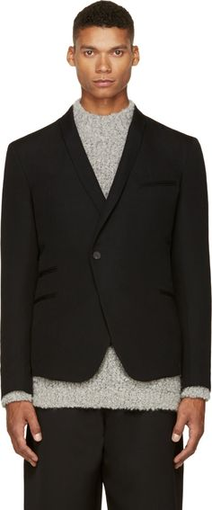 Haider Ackermann: Black Wool Classic Blazer | SSENSE