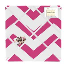 Hot Pink and White Chevron Zig Zag Fabric Memory/Memo Photo Bulletin Board Sweet Jojo Designs http://smile.amazon.com/dp/B00I8PHC14/ref=cm_sw_r_pi_dp_W-pQtb0HNCDS9HR1
