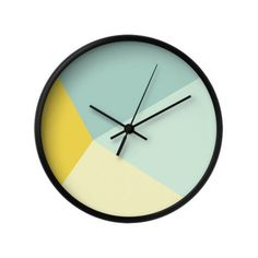 Cult Living Reloj Geométrico Kite – Mostaza - Cult Living del Cult Furniture Reino Unido