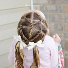 Darling and cute hairstyle idea for a toddler girl - Coiffure 02 Easy Toddler Hairstyles, Toddler Braids, Cute Hairstyles For Kids, Cute Haircuts, Kids Braided Hairstyles, Braids For Kids, Girls Braids, Little Girl Hairstyles, Child Hairstyles