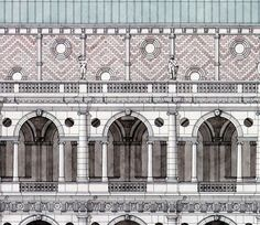 Palladio detail of The Basilica Palladiana, Vicenza by Giovanni Giaconi Illustrator, via Flickr
