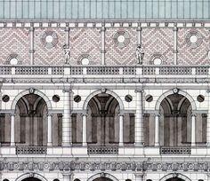Palladio detail of The Basilica Palladiana, Vicenza by Giovanni Giaconi Illustrator, via Flickr