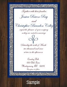 Printyourown Blue Royal Wedding Invitation By Printyourowninvites