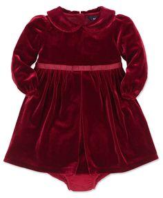 Ralph Lauren Baby Girls Dress, Baby Girls Velvet Dress - Kids Girls Dresses - Macy's