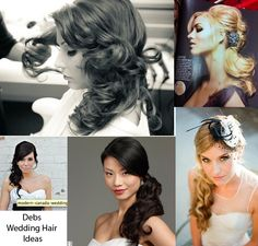 wedding hair, side swept