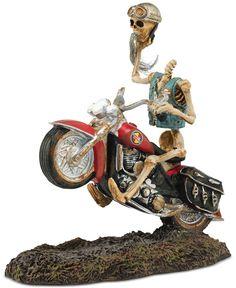 Department 56 Halloween Village Collection Headless Harley Rider Figurine