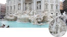 FONTAINE de TREVI (Italie) ROME 2016_ un ravissement et un marbre d'une blancheur éblouissante....