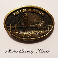 Vintage 1978 THE GOLDEN GATE BRIDGE BTS BELT BUCKLE Solid Brass