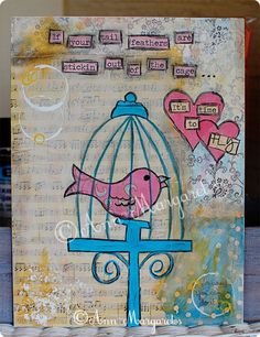 Time to Fly...Original mixed media artwork by Ann-Margaret {Arnold}