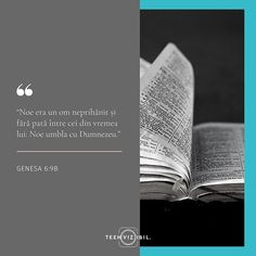 """Se bazează trăirea vieții curate și neprihănirea ta pe puterile tale? Pe hotărârea și propria ambiție? Simți că Dumnezeu așteaptă să-I dovedești că poți fi bun ? Secretul lui Noe stătea în faptul că umbla cu Dumnezeu. Inspirația zilnică și puterea de a trăi frumos aveau ca sursă relația cu Creatorul Cel numit drept """"izvorul apelor vii"""". #teenvizibil #hope #faith #verset Leo Zodiac Facts, Pisces Zodiac, Francis Chan, Stay Strong Quotes, Moise, New Beginning Quotes, Friendship Day Quotes, Beth Moore, Teen Quotes"""