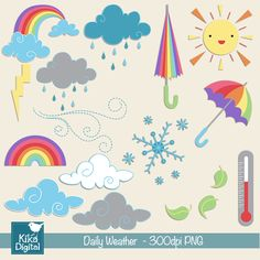 Daily Weather - great clipart for crafts, educational use, card making and more.