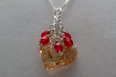Miss You Heart Pendant by PiccolinaJewelry on Etsy, $38.00