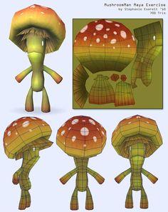 Mushroom Man by *Anuxinamoon on deviantART
