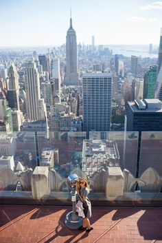 Checking-out the view from Top of the Rock, NYC