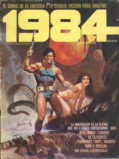 Cover for 1984 (Marzo Arte Do Pulp Fiction, 80s Sci Fi, Comic Art, Comic Books, Space Character, Double Entendre, Science Fiction Books, Wave Art, Comic Covers
