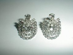 vintage weiss sp drapy rhinestone crystals by fadedglitter42263, $32.00