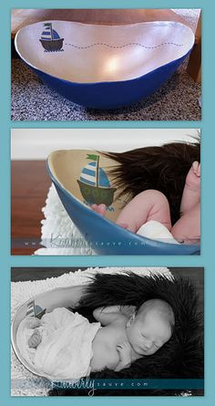 An example of a belly bowl.  It makes a great newborn photography prop!