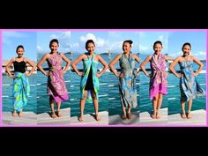 9 WAYS to WRAP a SARONG, PAREO, CONVERTIBLE DRESS! (Iris Impressions) - AprilAthena7 Vestido Convertible, Convertible Clothing, Sarong Skirt, Sarong Wrap, Dress Skirt, Hawaiian Skirt, Sarong Tying, Wrap Clothing, Diy Clothing