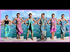 9 WAYS to WRAP a SARONG, PAREO, CONVERTIBLE DRESS! (Iris Impressions) - AprilAthena7