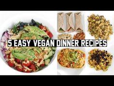 FIVE EASY & HEALTHY VEGAN DINNER RECIPES! - YouTube