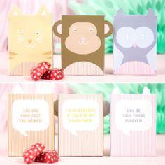 My Owl Barn: Printable Animal Valentine Boxes