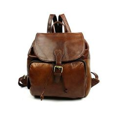 Lixmee women cow leather cute backpack (4.875 RUB) ❤ liked on Polyvore featuring bags, backpacks, knapsack bag, light weight backpack, strap bag, brown bag and rucksack bags