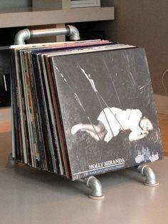 Panneau d'affichage d'un disque vinyle Industrial Pipe