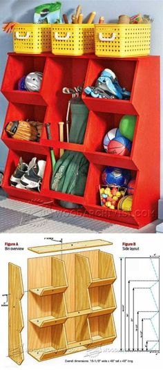 Storage Bins Plans - Woodworking Plans and Projects | WoodArchivist.com