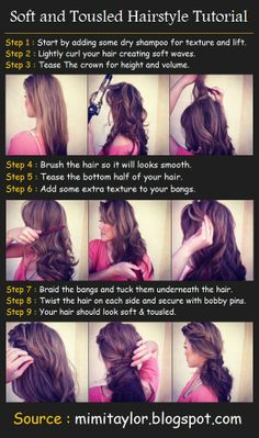 Soft and Tousled Hairstyle Tutorial | Pinterest Tutorials