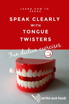 The best of diction exercises: tongue twisters for articulation practice, and fun! Public Speaking Activities, Speaking Games, Toungue Twisters, Tongue Twisters For Kids, Middle School Ela, Study Tips, Learn To Read, Learn English, Esl