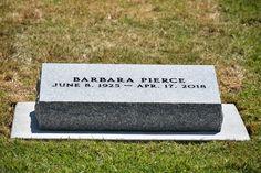 Barbara Pierce Bush - Find A Grave Memorial Barbara Pierce Bush, Barbara Bush, Grave Monuments, Famous Tombstones, Bush Family, Famous Graves, Cemetery Art, Grave Memorials, Famous People