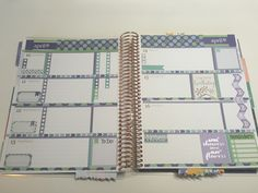 Erin Condren Life Planner ECLP Horizontal Weekly layout - stickers purchased from planning made perfect