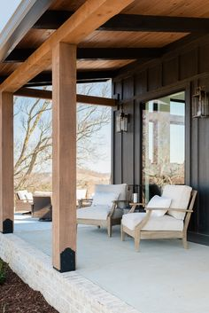 Front Porch Pillars, Modern Front Porches, Front Porch Posts, Farmhouse Front Porches, Cedar Porch Posts, Porch Timber, Porch Beams, Cedar Homes, Modern Farmhouse