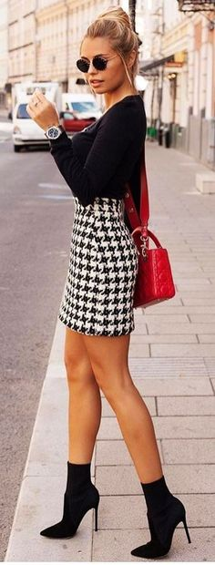 Fantastic Summer Outfits To Copy Now schwarzes langärmeliges hemd. Winter Skirt Outfit, Fall Winter Outfits, Spring Outfits, Dress Winter, Outfit Summer, Classy Outfits, Casual Outfits, Cute Outfits, Work Outfits