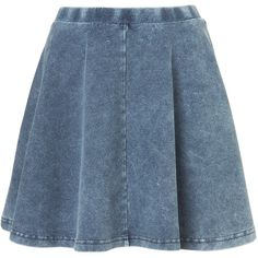 TOPSHOP Petite Skater Skirt (€11) ❤ liked on Polyvore featuring skirts, bottoms, saias, faldas, blue, petite, petite skirts, elastic waist skirt, blue skater skirt and circle skirt
