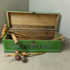 Fabulous Vintage Lawn Croquet Set by GaryCSharpe on Etsy