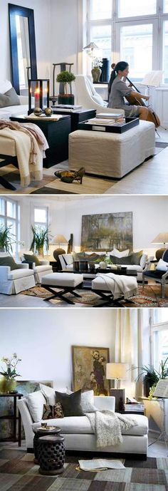 Slettvoll design. I just love the layouts in these rooms. Funny how even with that much furniture, the space still seems neat & clean to me.